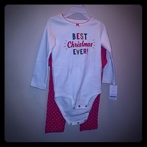 Carter's infant girl's outfit set